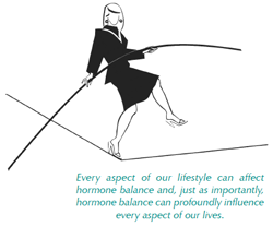 Woman balancing on a tightrope