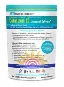 Colostrum package of powder